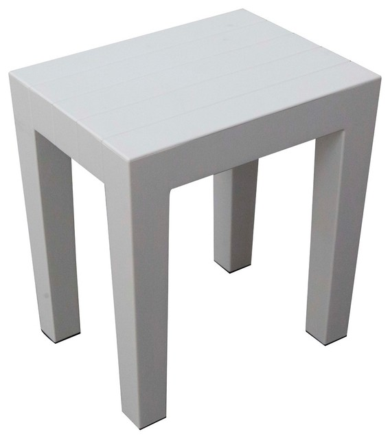 Design by Intent Indestructible 15-Inch Bathroom Stool .