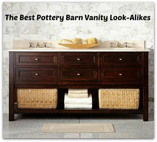 Pottery Barn Look-Alike Bathroom Vanities (With images) | Classic .