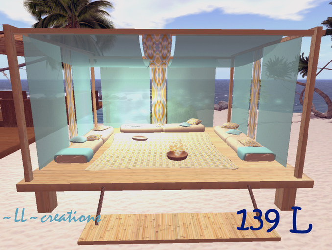 Second Life Marketplace - -LL-creations. Hazebo Holiday. Beach .