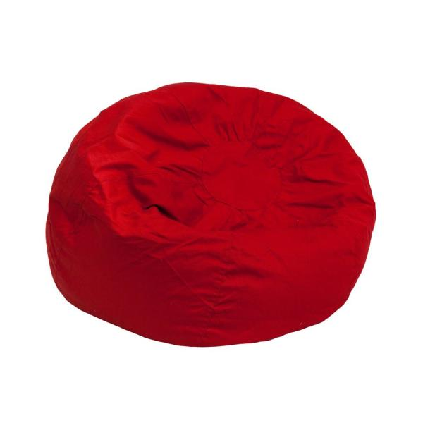 Flash Furniture Small Solid Red Kids Bean Bag Chair DGBEANSMSLDRD .