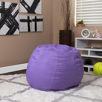 Flash Furniture Small Solid Purple Kids Bean Bag Chair at Lowes.c