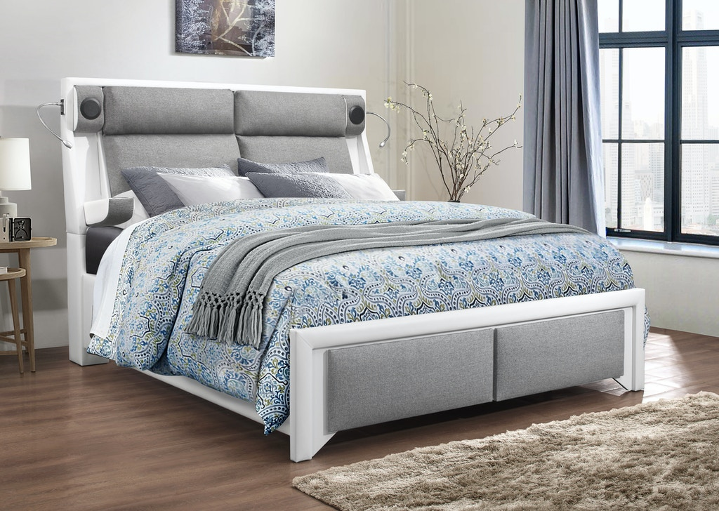 Global Furniture USA Bedroom King Bed Headboard With Stereo And .