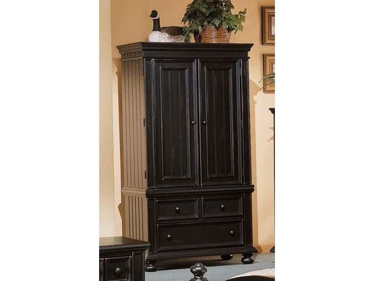 Winners Only Bedroom Armoire Cape Cod Ebony 116969P - Naturwood .