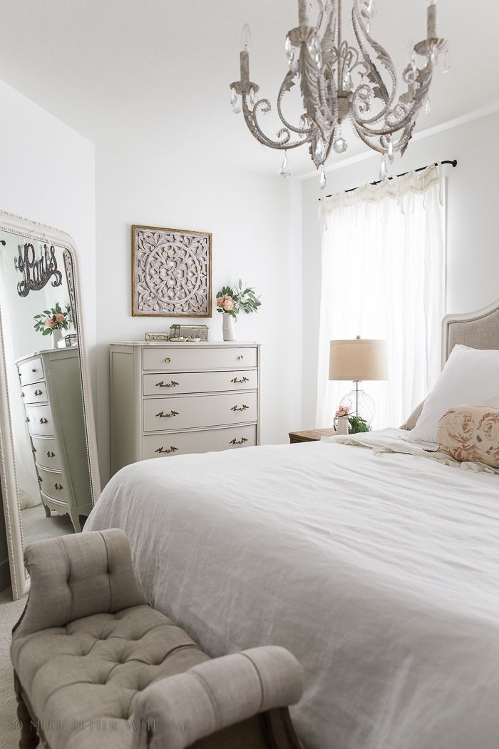 French Vintage Master Bedroom Spring Tour + Video | French country .
