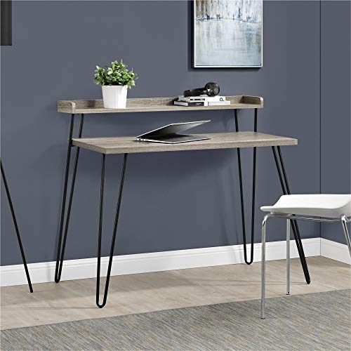 Amazon.com: Ameriwood Home Haven Retro Desk with Riser, Weathered .