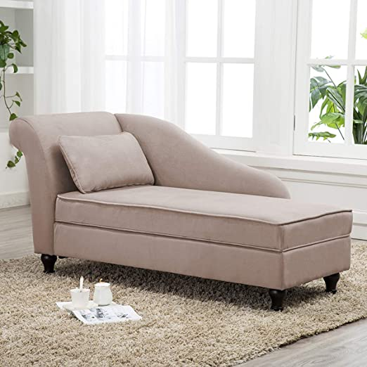 Amazon.com: Chaise Lounge Storage Upholstered Sofa Couch for .
