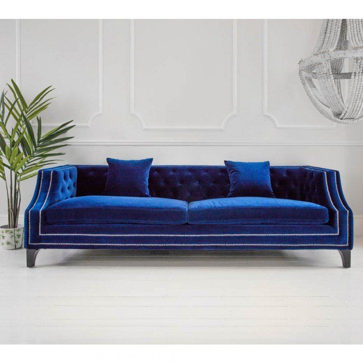 Imperial Sofa | Blue velvet sofa, Velvet sofa, French so