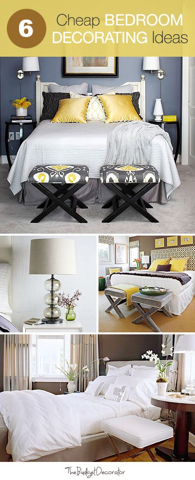 Charming But Cheap Bedroom Decorating Ideas | Bedroom decor, Home .