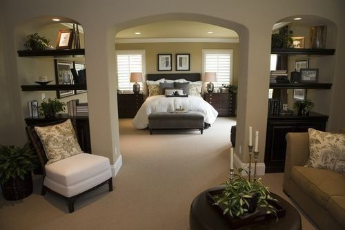 Amazing master bedroom with sitting room. Maybe for my dream home .