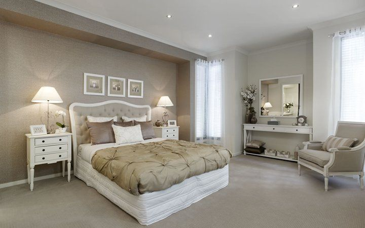 Light brown feature wall | Light brown bedrooms, Brown bedroom .