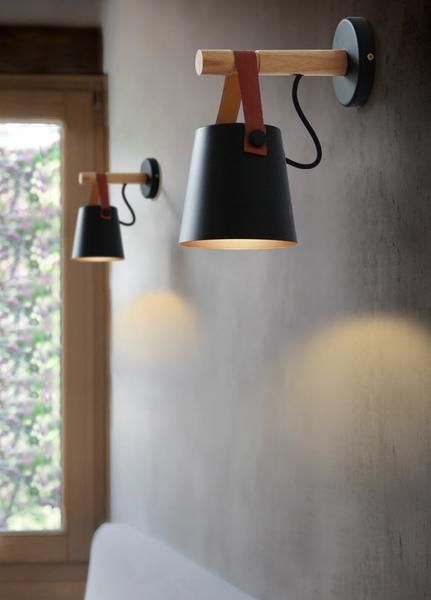 Nordic Wooden Hanging Wall Lamp | Wooden lanterns, Wall mounted .
