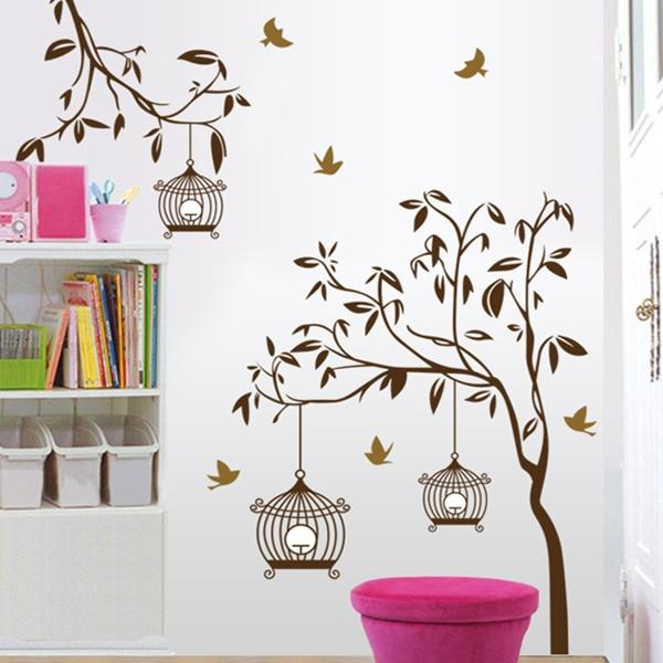 Removable Birdcage Wall Stickers Mural Art Decal for Home Sticker .