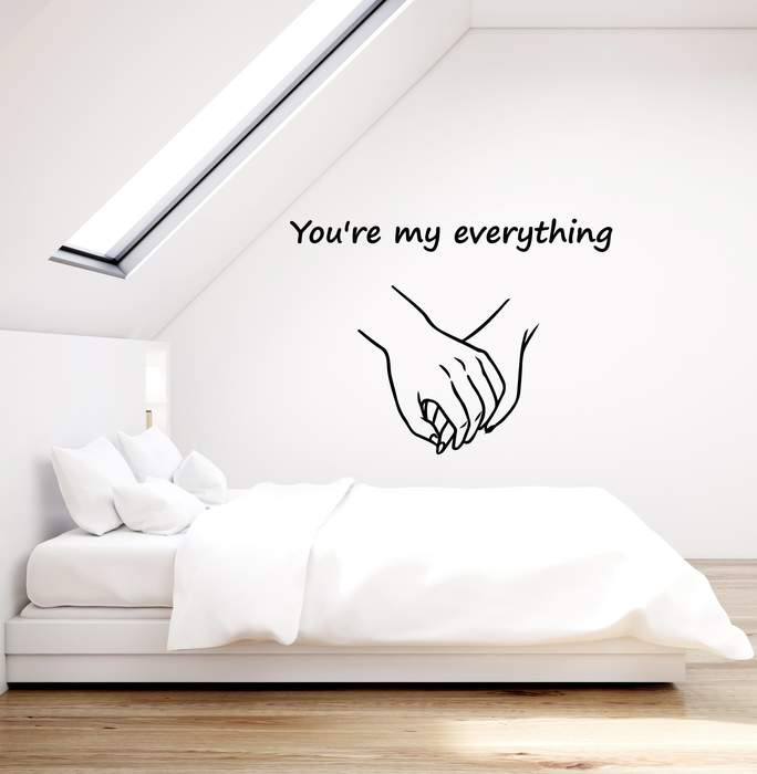 Vinyl Wall Decal Romantic Quote Hands Love Couple Bedroom Home .