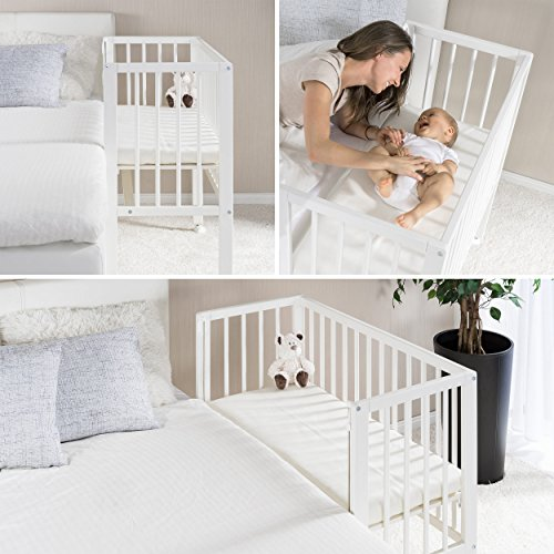 Fillikid Convertible Bedside Crib Vario 2in1 - Height Adjustable .