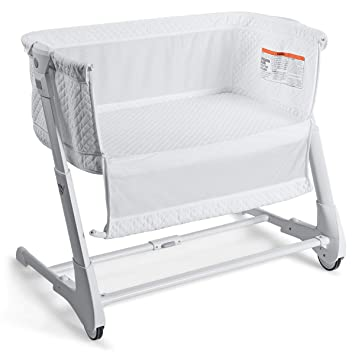 Amazon.com : BABY JOY Baby Bedside Crib, 2 in 1 Height & Angle .