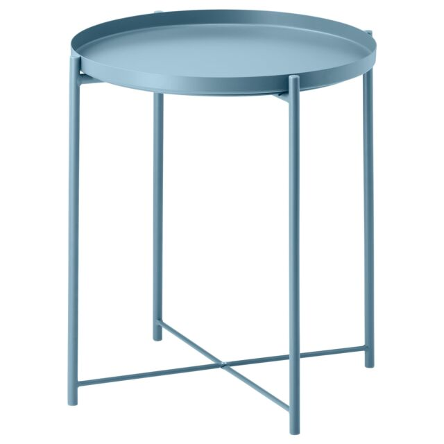 Ikea Gladom Tray side table, bedside, Removable Tray - Blue for .