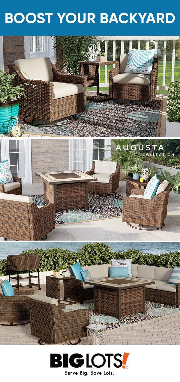 Enjoy your time in the great outdoors with our Augusta patio .