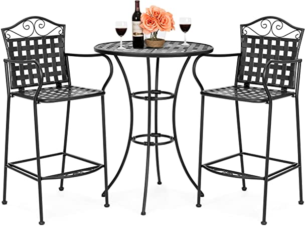 Amazon.com: Best Choice Products 3-Piece Woven Pattern Wrought .