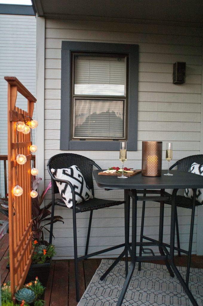 3 Ways to Style Your Small Patio For $250 or Less | Small outdoor .