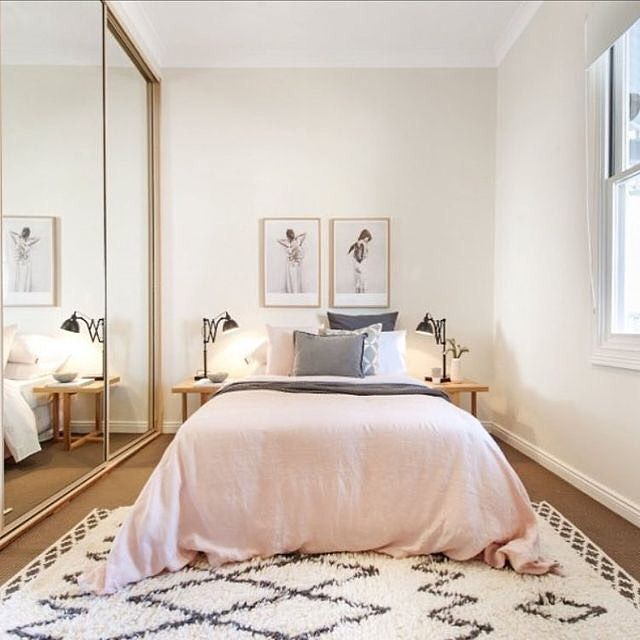 Blush + black and white | Woman bedroom, Small master bedroom .