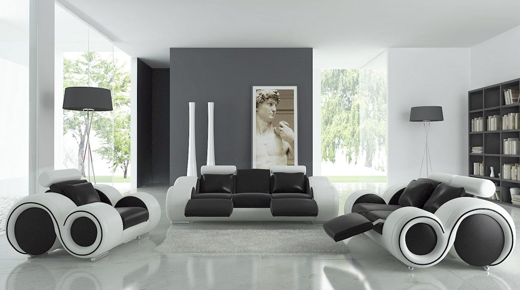 Modern Living Room Black White Theme Djenne Homes Pictures Of .