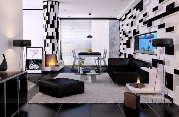 20 Modern Contemporary Black and White Living Rooms | Home Design .