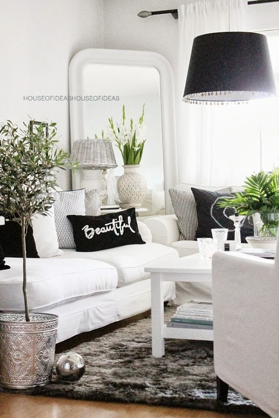 48 Black and White Living Room Ideas & Designs | Decohol