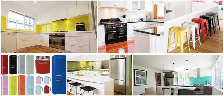 How splashes of colour can transform your kitch