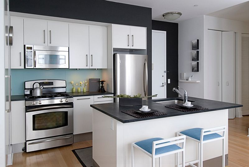 Ideas for Black and White Kitchens with A Splash of Colour .