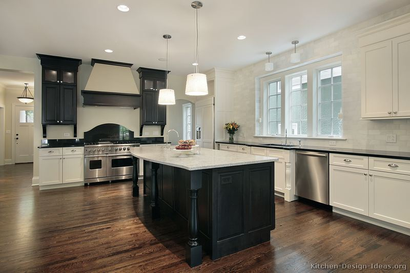 Black and White Kitchen Designs - Ideas and Phot
