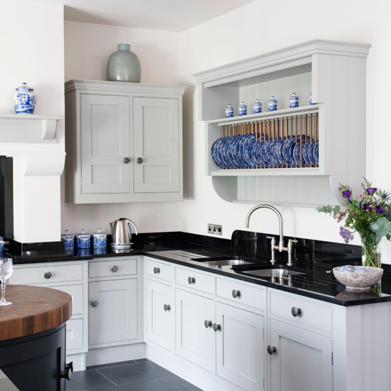 Popular Black And White Kitchen Idea Wood Inspiration With A .