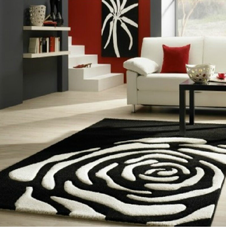 Continental Classical Black and white carpet Manual Acrylic Living .