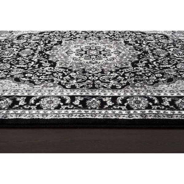 Shop Persian Rugs Oriental Traditional Black/Grey/White Area Rug .