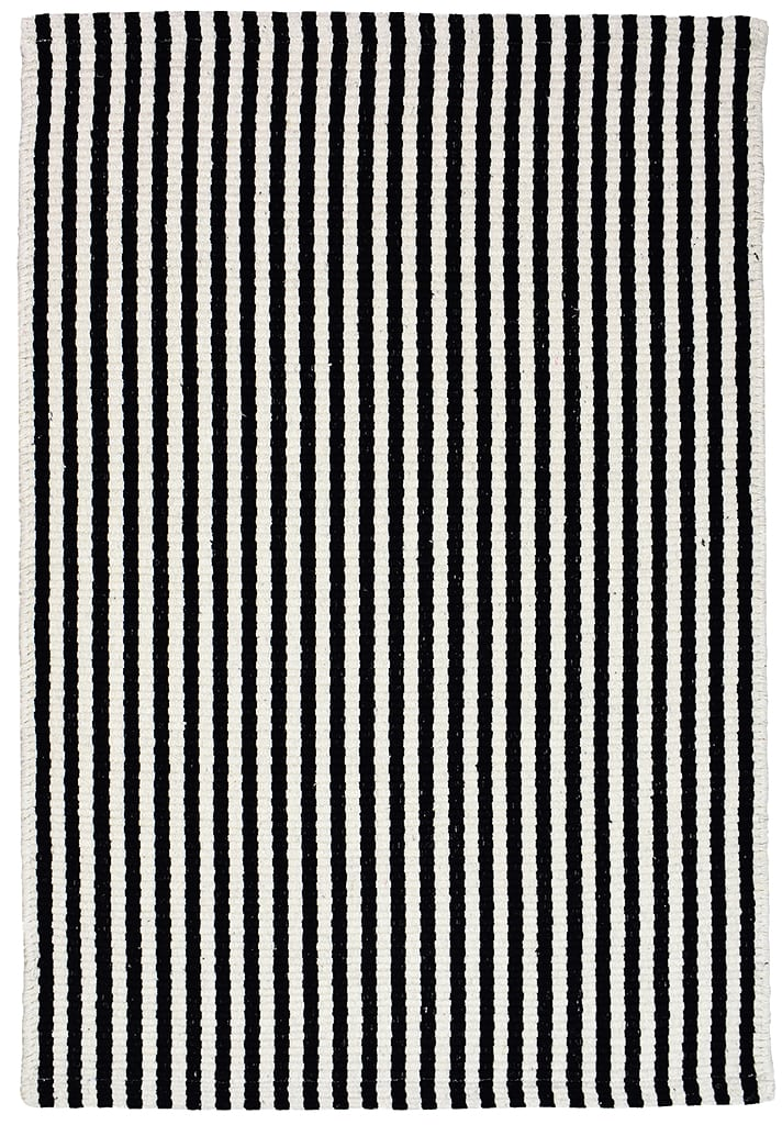 Chester Eco Cotton Rug - Black/White - Hook & Lo