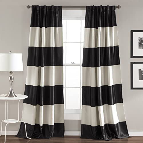 Black and White Striped Curtains: Amazon.c