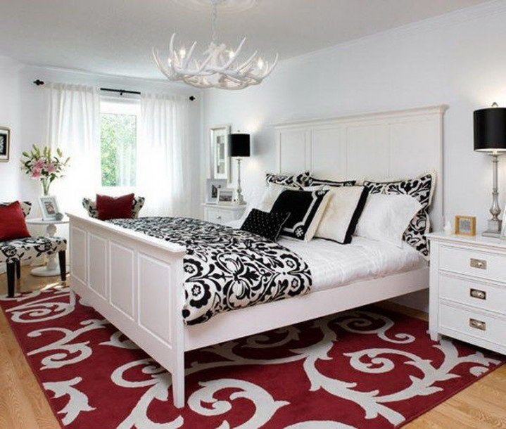 48 Samples for Black, White and Red Bedroom Decorating Ideas .