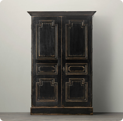 Black Armoire Can Add Texture to Your Bedroom | Armoire makeover .