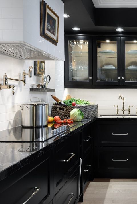 30 Sophisticated Black Kitchen Cabinets - Kitchen Designs With .