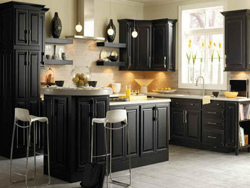 Distressed Black Kitchen Cabinets Of Best Colors Grey White Simple .