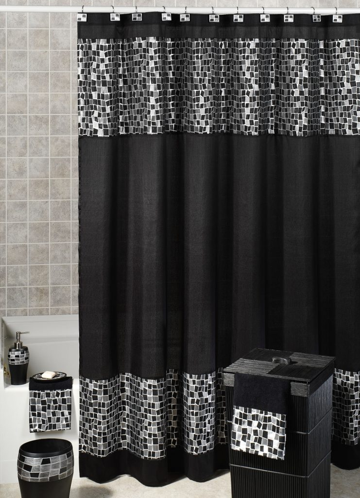 Gorgeous Black Shower Curtain Design Ideas for Simply Awesome Look .