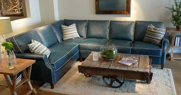 Great Blue Leather Sectional Sofa Costco Andersen Leather Chaise .