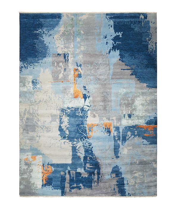 Rylee Gray Blue Abstract R