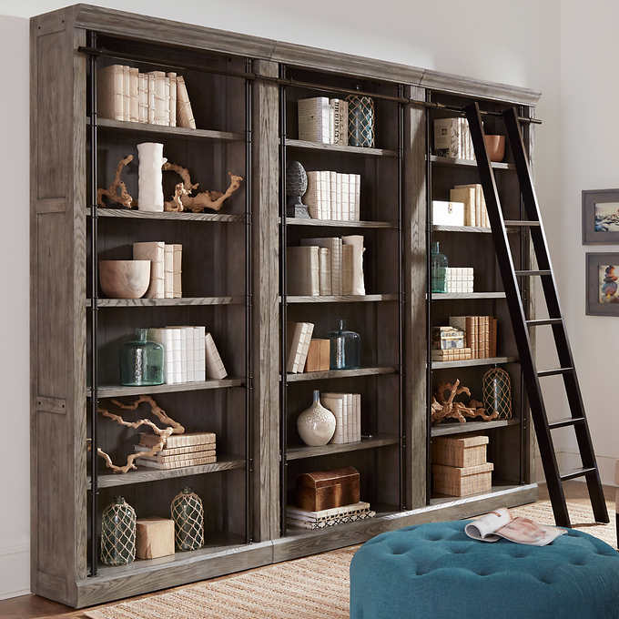 Tuscan 3-piece Bookcase Wall and Ladd