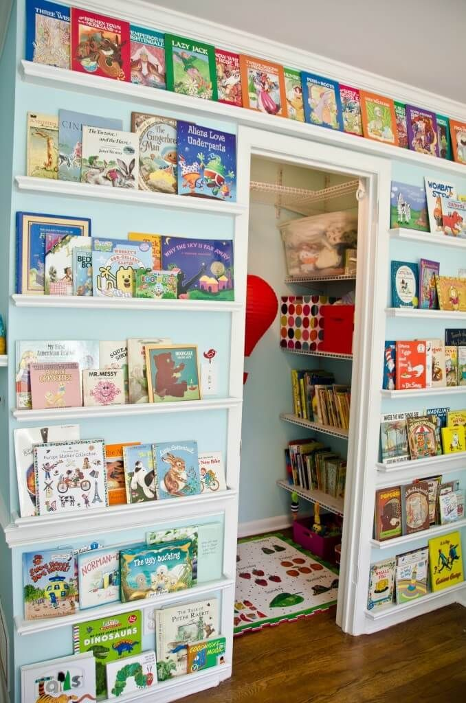 Book Storage Wall by Project Nursery | Clever storage solutions .