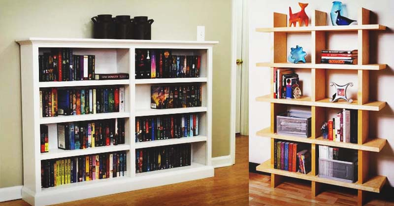 141 DIY Bookshelf Plans & Ideas to Organize Your Homesteading Boo