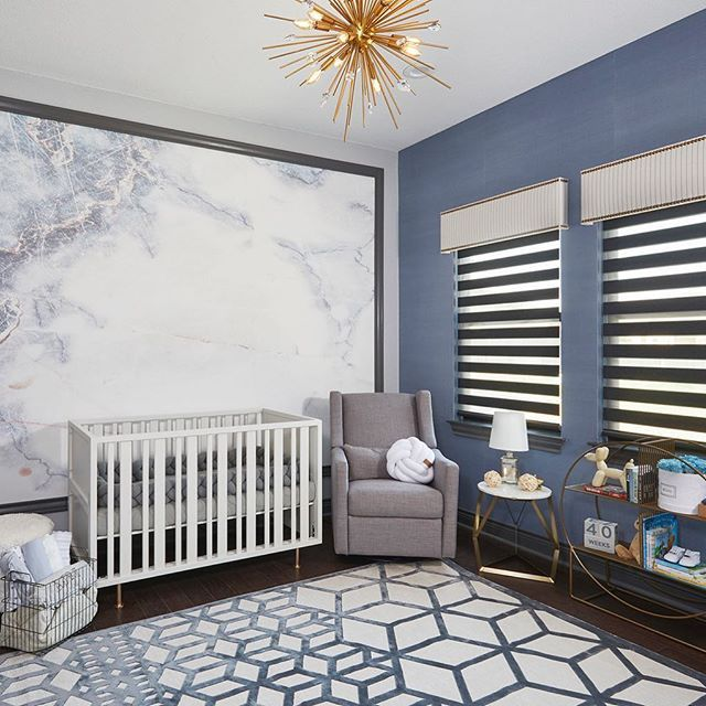 Sophisticated and bold. Wow, this nursery is a showstopper for the .