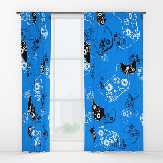 Gamer Curtains Boys Curtains Gamer Gifts Video Game Decor | Et