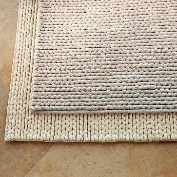 Chunky braid rug - I like the braided rugs in rectangular shapes .