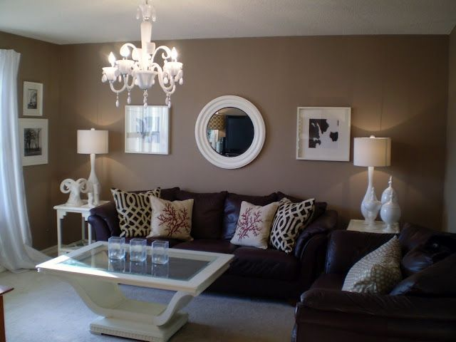 How to decorate around choc brown leather sofas | Brown living .