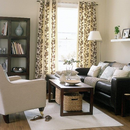 Relaxed modern living room | Brown couch living room, Home living .